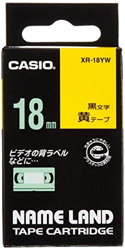 激安通販販売 カシオ ラベルライター ネームランド テープ 黄 18mm オーバーのアイテム取扱☆ XR-18YW XR-18YWキイロ