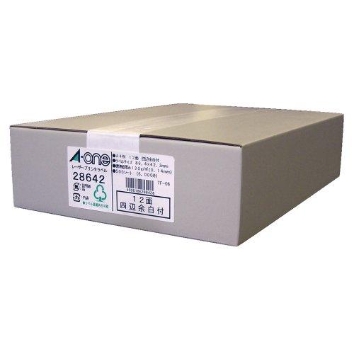 エーワン プリンタラベル (28642A4) (1箱)
