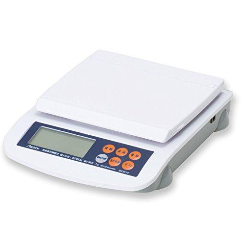 アスカ デジタルスケール DS3010 最大計量3kg ホワイト