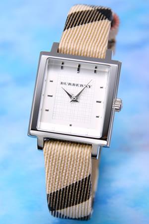バーバリー BURBERRY 腕時計 レディス スクエア SS/シルバー バーバリー BURBERRYチェックストラップ BU2016【ポイント10倍】