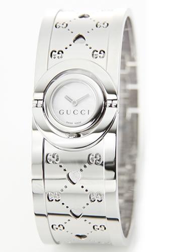グッチ GUCCI 腕時計【新作】TWIRL(トワール・オープンハート)コレクション YA112シリーズ レディス ホワイトシェル SSスモールバングル YA112523【ポイント10倍】