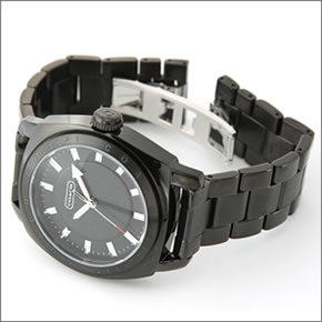 e8136270b519 コーチCOACHメンズ腕時計Varick(ヴァリック)オールブラックブレスウオッチ14600978【ポイント10