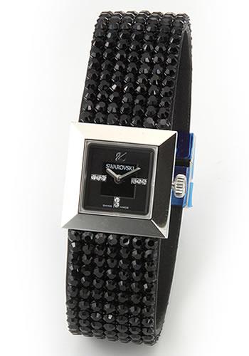 スワロフスキー Swarovski レディス 腕時計 Elis(エリス)・ジュエリーウォッチ スワロフスキー Swarovski・キラキラ・ジェット・クリスタルメッシュ・ストラップウオッチ 1000674【送料無料】:リコメン堂