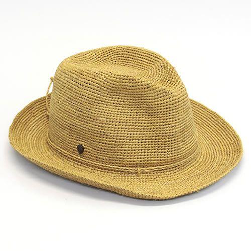 Kaminski Kaminski XY Abaca turmeric Fedora Hat crumpled Packable raffia  made rollable mens caps  amp  Hat «2014 SS» Abaka Turmerick 1bb8fd9078e