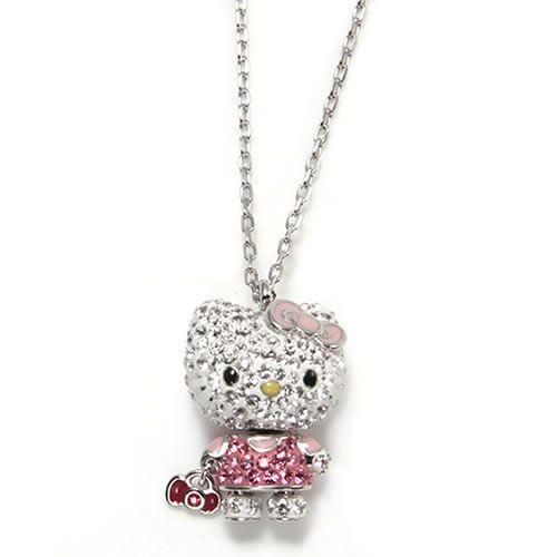 スワロフスキー Hello Kitty Mini お出かけハローキティ クリスタル ポインティアージュ ペンダント ネックレス 1192660BexdCo