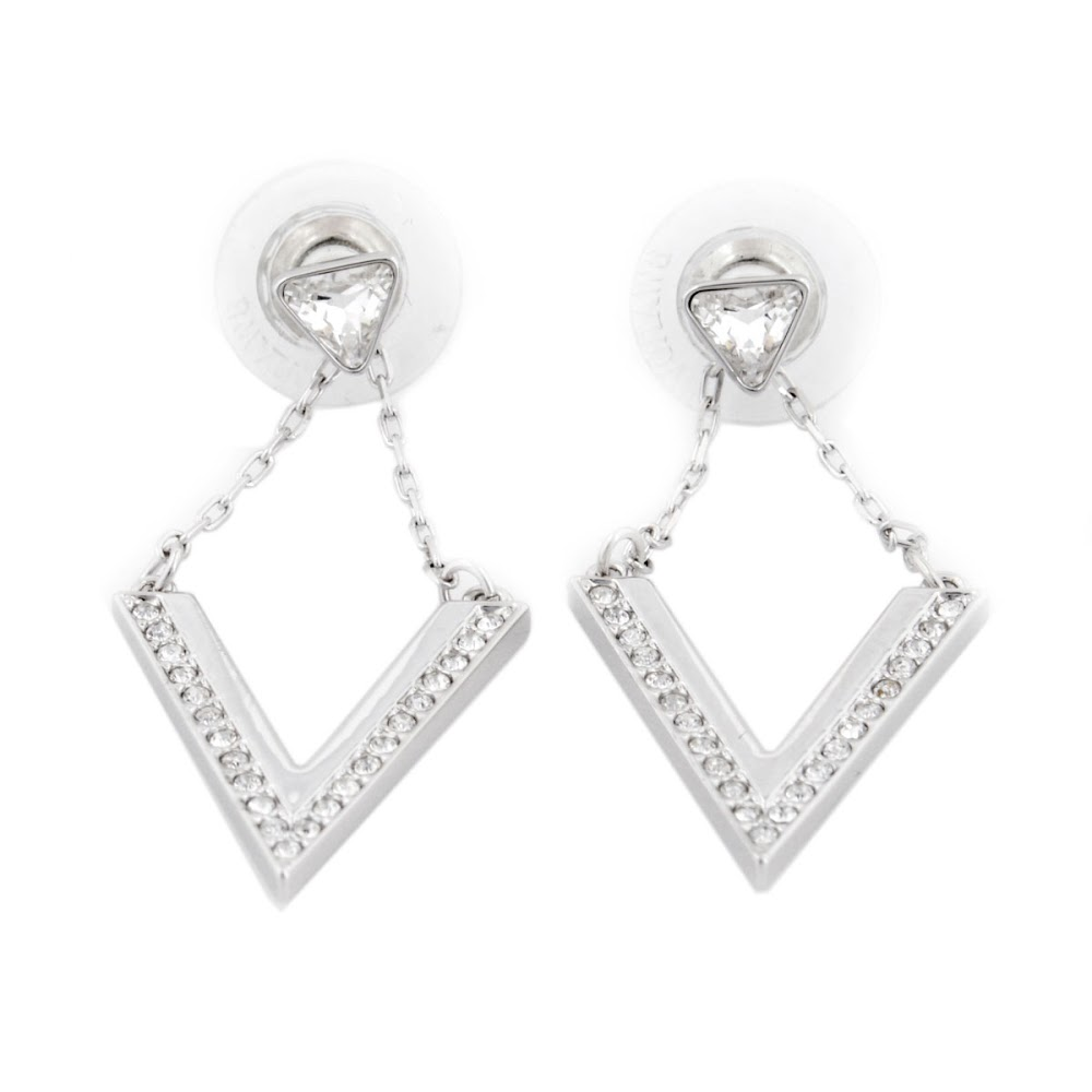 Swarovski SWAROVSKI 5156602 Delta V-shaped Crystal Crystal pave earrings 3aca37dd27