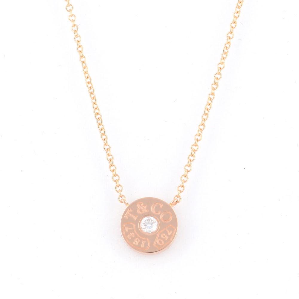 ティファニー Tiffany&CO 33286007 1837 サークル ペンダント ダイアモンド 16in 18KRG ネックレス【送料無料】