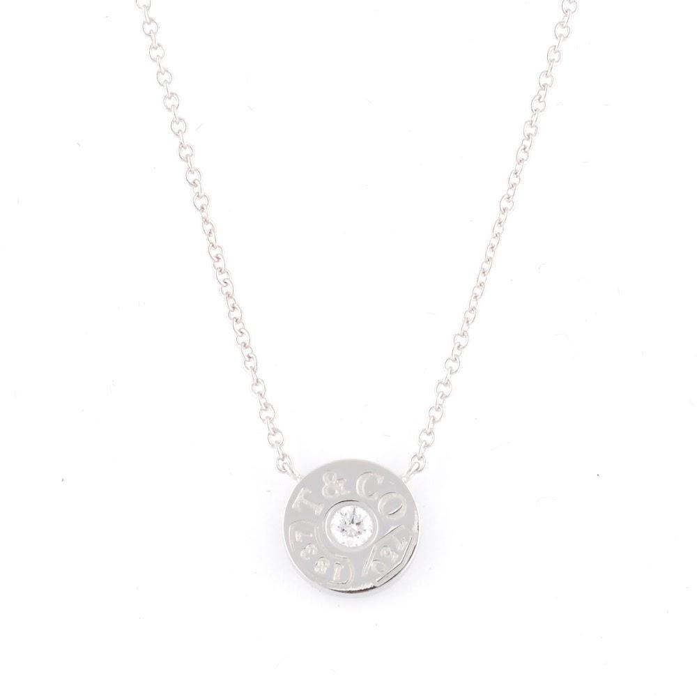 ティファニー Tiffany&CO 33285973 1837 サークル ペンダント ダイアモンド 16in 18KWG ネックレス【送料無料】