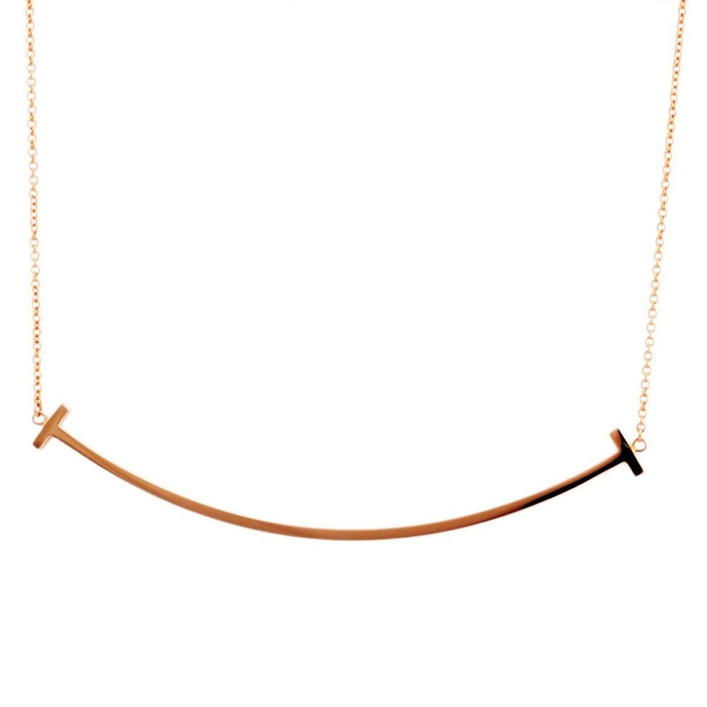 ティファニー TIFFANY&CO 33637152 Tiffany T スマイル ペンダント 18KRG ネックレス【送料無料】