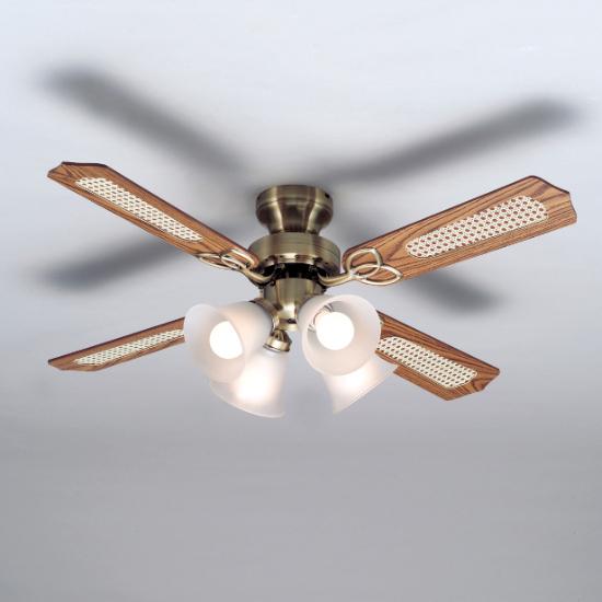 シーリングファンライト リモコン式 LED電球付き 照明 TKM-42AB4LKRCX(代引不可)【送料無料】