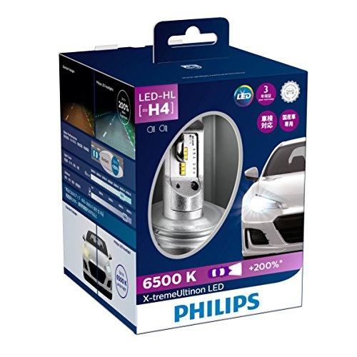 PHILIPS フィリップス エクストリーム アルティノン LED ヘッドランプ / H4 / 6500K / Hi:2800lm / Lo:2200lm 【12901HPX2JP】