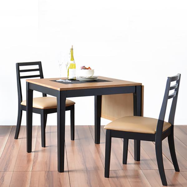 ダイニングテーブル 3点セット ダイニングセット 3点 ポンテBT 80・120cm幅/2人掛け用 木製(代引不可)【送料無料】