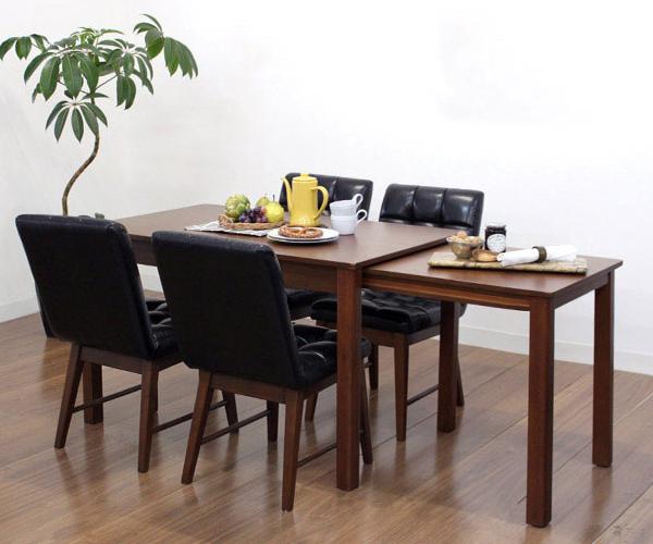 ダイニングテーブル 5点セット ダイニングセット 5点 シオンキューブ 120~200cm幅/4人掛け用 木製(代引不可)【送料無料】【int_d11】