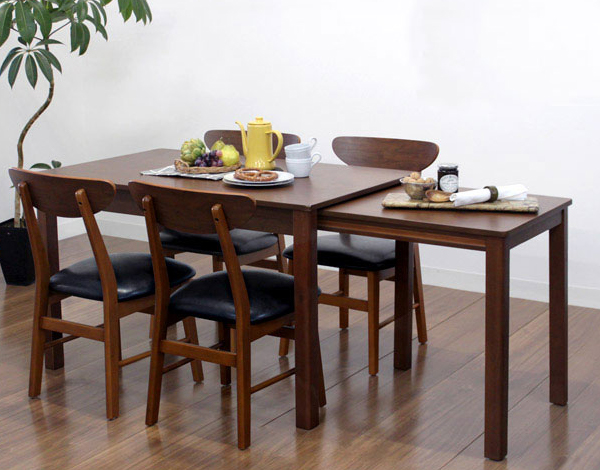 ダイニングテーブル 5点セット ダイニングセット 5点 シオンダエン 120~200cm幅/4人掛け用 木製(代引不可)【送料無料】【S1】