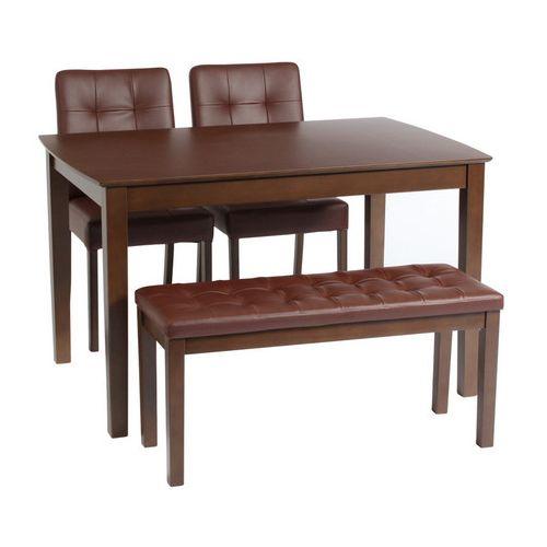 ダイニングテーブル4点セット ダイニングセット 4人掛け デリカ ベンチダイニングテーブル 4点セット (115cm幅/4人掛け用)(代引不可)【送料無料】