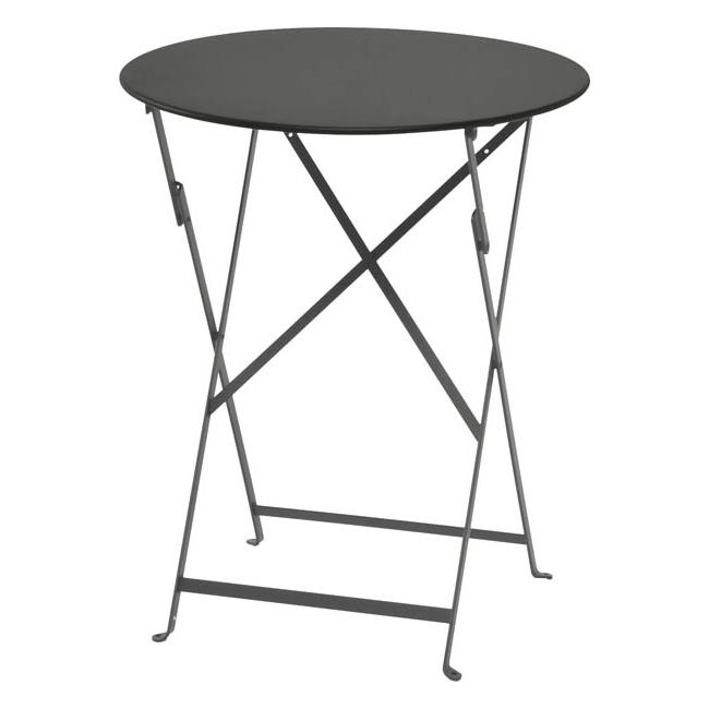 【ビストロ ラウンドテーブル 600 】カフェテーブル ダークグレー 庭 テラス カフェ ガーデンテーブル アウトドア 丸型(代引不可)【送料無料】