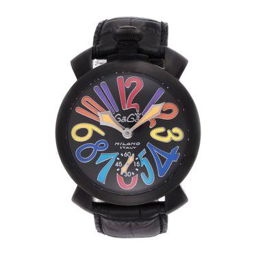 マニュアーレ48mm 腕時計 GAGA メンズ【送料無料】 ミラノ 5012.03S-BLK ガガ