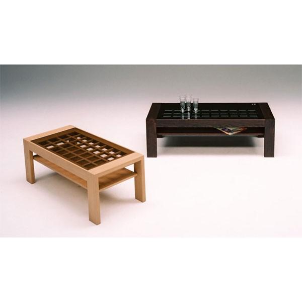 ガラス格子 デザイン ローテーブル(代引き不可)