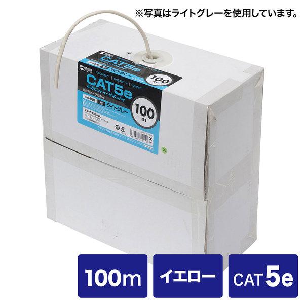 サンワサプライ カテゴリ5eUTP単線ケーブルのみ KB-T5-CB100YN【送料無料】 (代引不可)