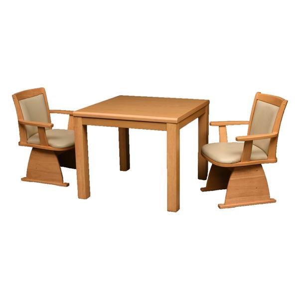 丸栄木工所 こたつ テーブル 正方形 ダイニングコタツ(イス別売) 80×80cm TMK-80LN(代引不可)【送料無料】