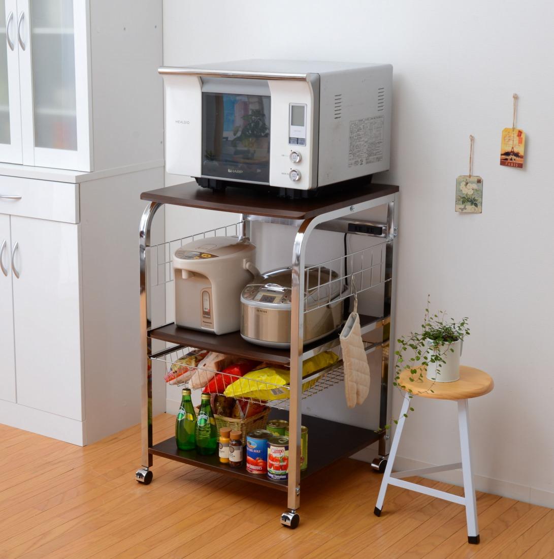 レンジ台 食器棚 キッチン収納 スチールレンジ台 kronos クロノス 高さ90cm(代引き不可)【int_d11】