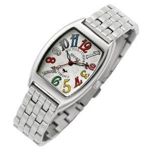 michelJurdain SPORTSミッシェル・ジョルダン スポーツ腕時計 ダイヤモンド 5P 入り トノー型 メタル ベルト レディース ウォッチ ホワイトxマルチカラー SL 1000A 5B レディースQoeCWxrBd