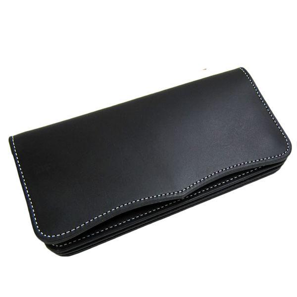 日本製Maturi 国産 最高級ヌメ革 長財布 ウォレット マトゥーリ MR-026 BK