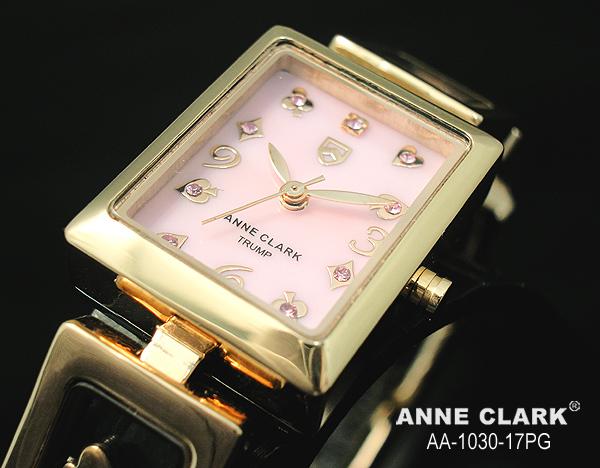 時計 レディース ブランド 腕時計 ANNE CLARK アンクラーク 腕時計 ムービングトランプチャームブレス レディースウォッチ aa1030-17PG ピンクシェル×ピンクゴールド【送料無料】