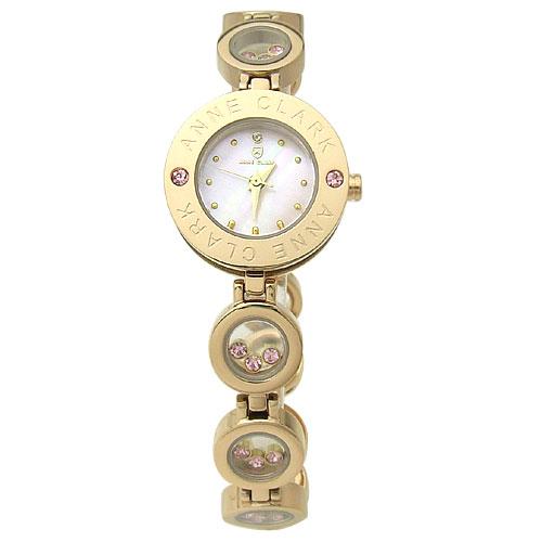 時計 レディース ブランド 腕時計 ANNE CLARK アン クラーク 1P天然ダイヤ入りレディースウォッチ AT1008-17PG【送料無料】
