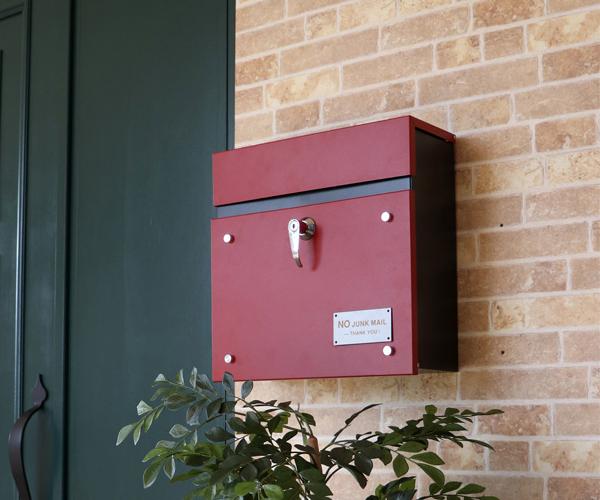 壁掛けポスト 北欧 おしゃれ 壁掛けポスト 鍵付き 郵便受け 宅配ボックス【送料無料】【int_d11】