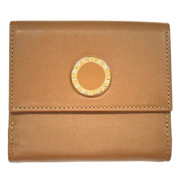 BVLGARI ブルガリ BB COLORE 33383 Wホック二つ折り財布 ライトブラウン 革小物(代引不可)【送料無料】