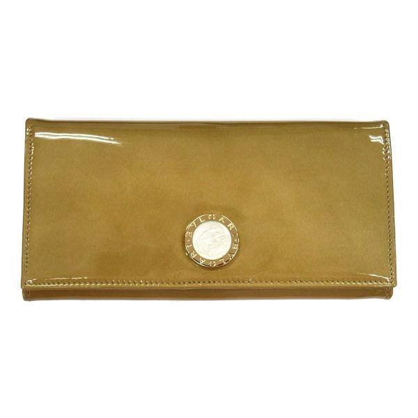 BVLGARI ブルガリ BB COLORE 33761 長財布 ファスナー式小銭入れ付き ゴールド 革小物(代引不可)【送料無料】