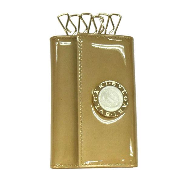 BVLGARI ブルガリ BB COLORE 33762 6連キーケース ゴールド 革小物(代引不可)【送料無料】