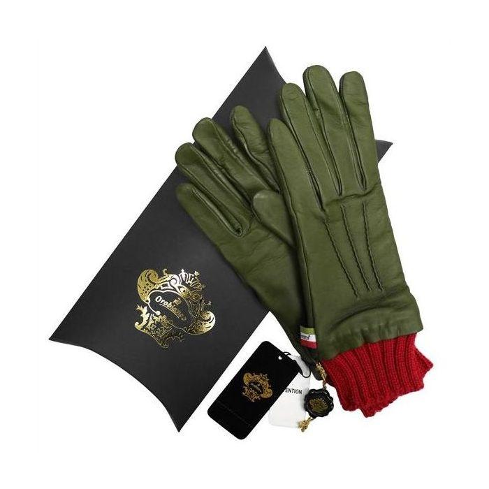 OROBIANCO オロビアンコ レディース手袋 ORL-1454 Leather glove 羊革 ウール KHAKI サイズ:7(20cm) プレゼント クリスマス【送料無料】