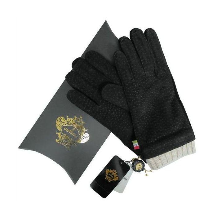 OROBIANCO オロビアンコ メンズ手袋 ORM-1412 Leather glove カピバラ ウール BLACK サイズ:8(23cm) プレゼント クリスマス【送料無料】
