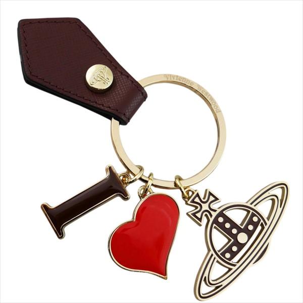 ヴィヴィアンウエストウッド Vivienne Westwood キーリング I LOVE ORB GADGET 321566 005 BORDEAUX 鍵 母の日 父の日【送料無料】