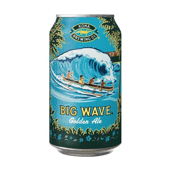 ビッグウェーブゴールデンエール缶【355ml 24本入】 コナビール Bigwave Golden Ale CAN Kona Beer (青)【送料無料】