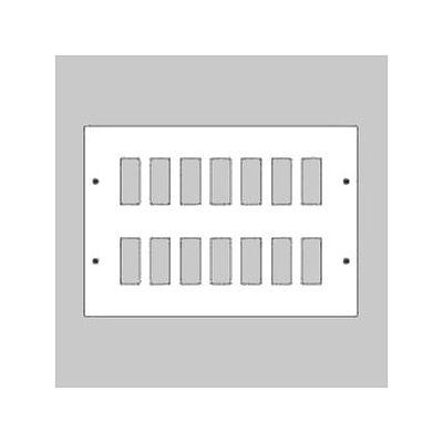 最も  パナソニック 新金属リモコンスイッチプレート 2段 パナソニック 2段 7連型 (WR3520561) 56コ用 スイッチ取付金具付 (WR3520561), MiSAIL:1a665576 --- kanvasma.com
