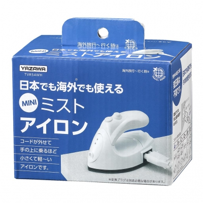 YAZAWA(ヤザワ) トラベルアイロン TVR54WH【ポイント10倍】