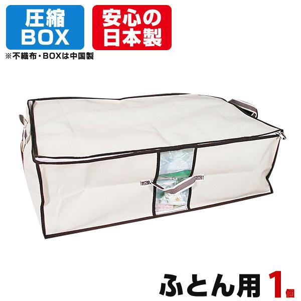 送料無料 圧縮BOX ふとん用 1セット入 高価値 日本製 品質保証書付 布団圧縮 ふとん圧縮袋 押入れ収納 ふとん収納 収納 圧縮袋 ボックス 布団 ふとん メーカー在庫限り品 布団収納袋 1セット 布団圧縮ボックス 収納袋