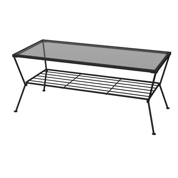 あずま工芸 GARDEN(ガーデン) リビングテーブル90 (ブラック)(代引不可)【送料無料】【int_d11】