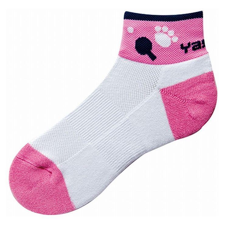 ヤサカ Yasaka 卓球ソックス CAT SOCKS にゃんこ Yソックス ピンク サイズ お見舞い M 即納最大半額 カラー 23.0~25.0cm E160