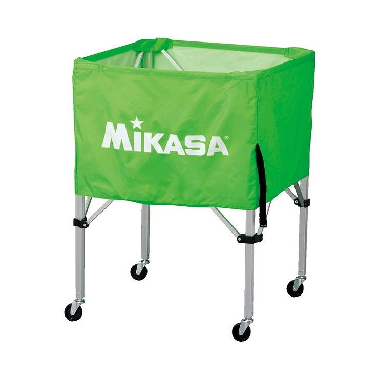ミカサ(MIKASA) 器具 ボールカゴ 箱型・中(フレーム・幕体・キャリーケース3点セット) BCSPS 【カラー】ライトグリーン【送料無料】