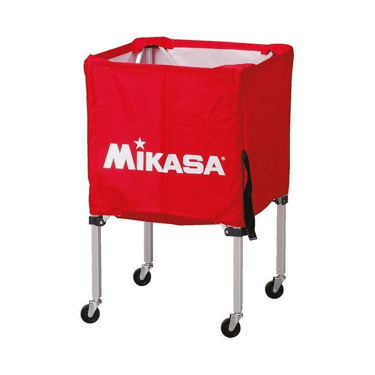ミカサ(MIKASA) 器具 ボールカゴ 箱型・小(フレーム・幕体・キャリーケース3点セット) BCSPSS 【カラー】レッド【送料無料】