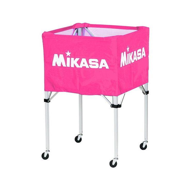 ミカサ(MIKASA) 器具 ボールカゴ 箱型・大(フレーム・幕体・キャリーケース3点セット) BCSPH 【カラー】ピンク【送料無料】