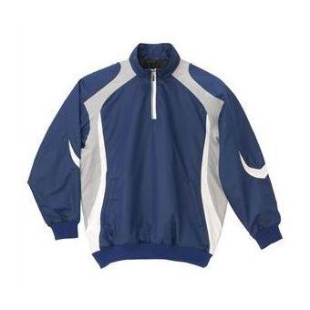 デサント(DESCENTE) 長袖プルオーバーコート STD428 ROY ロイヤルブルー×シルバー×ホワイト【送料無料】