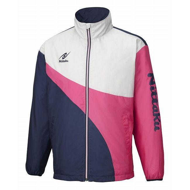 ニッタク 卓球アパレル LIGHT WARMER SPR SHIRT(ライトウォーマーSPRシャツ)男女兼用 NW2848 【カラー】ピンク 【サイズ】S【送料無料】