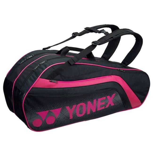 Yonex(ヨネックス) TOURNAMENT SERIES ラケットバック6 リュック付き(ラケット6本用) BAG1812R 【カラー】ブラック×ピンク【送料無料】