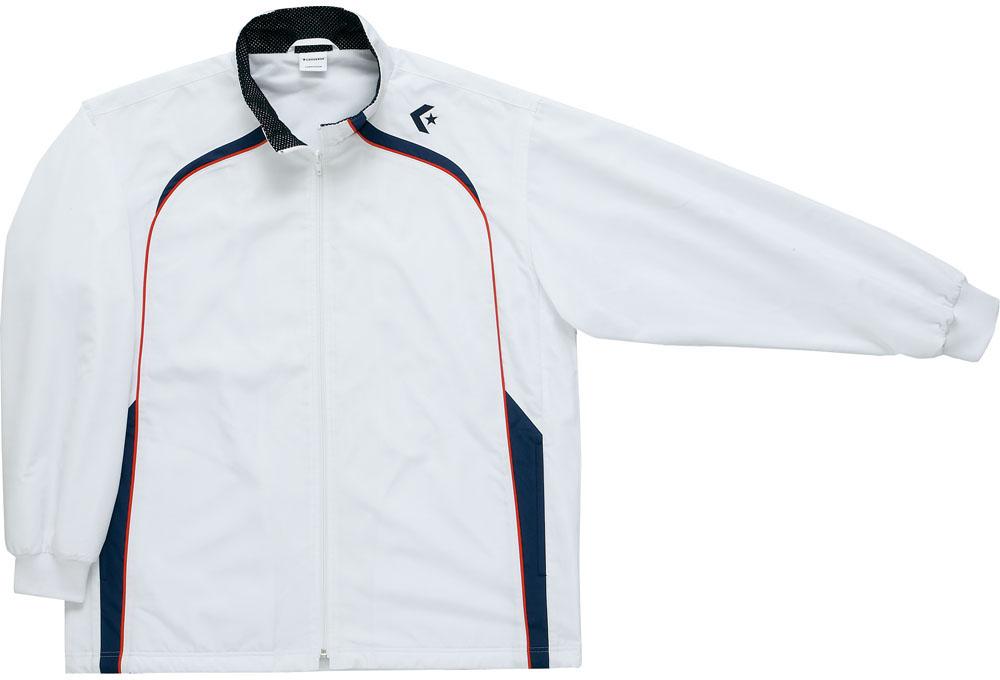 CONVERSE(コンバース) ウォームアップジャケット(裾ボックス仕様) CB162501S 【カラー】ホワイト×ネイビー 【サイズ】L【送料無料】