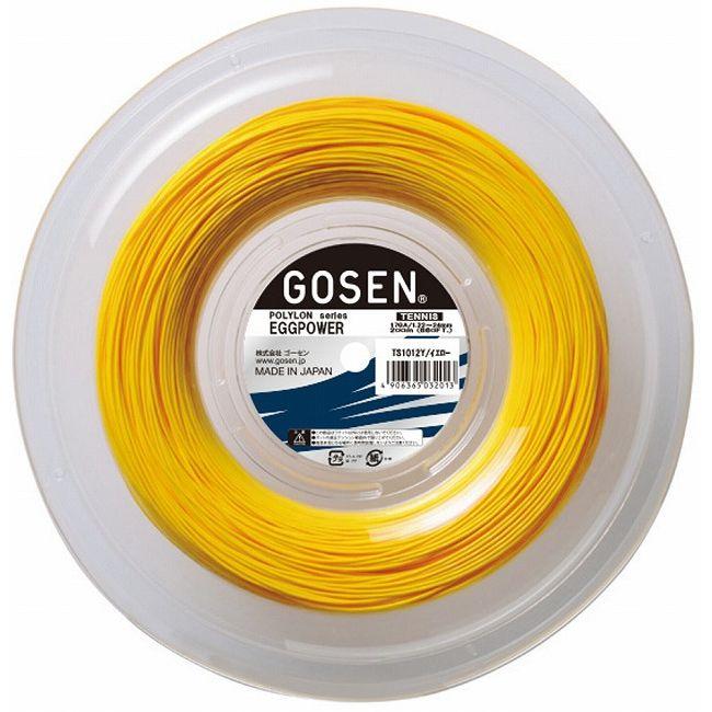 GOSEN(ゴーセン) エッグパワー17 200Mロール イエロー TS1012Y【送料無料】【S1】